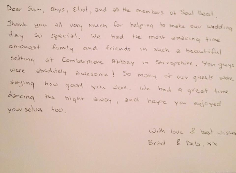 testimonial from brad and dila